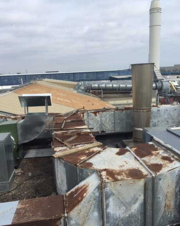 Sofina Foods Inc Make Up Air Unit Duct Replacment